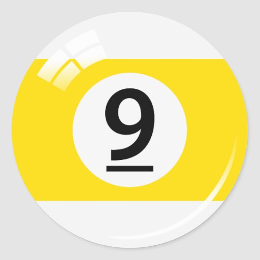 Number nine pool ball stickers/labels