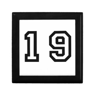 Number Nineteen Gift Box