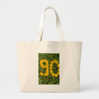 number ninety designed with dandelion on the lawn jumbo tote bag