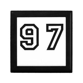 Number Ninety Seven Keepsake Box