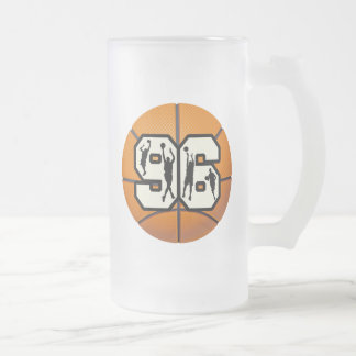 Number Ninety Six Basketball and Players Frosted Glass Beer Mug