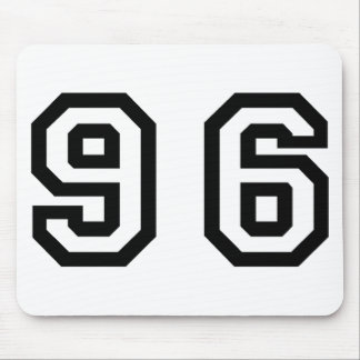 Number Ninety Six Mouse Pad