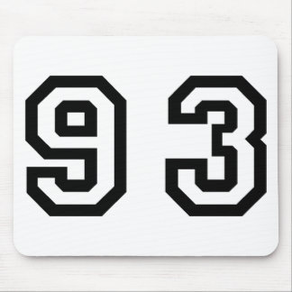 Number Ninety Three Mouse Pad