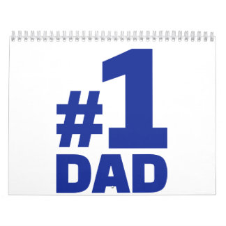 Number no. 1 Dad Calendar