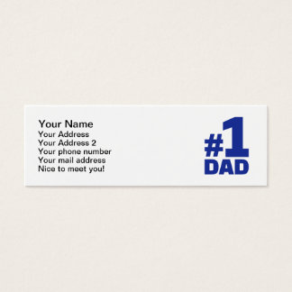 Number no. 1 Dad Mini Business Card