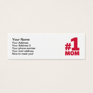 Number No. 1 Mom Mini Business Card