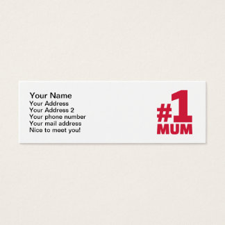 Number No. 1 Mum Mini Business Card