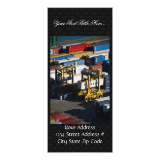 Number Of Containers At Port Full Color Rack Card