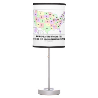 Number Of Electors From Each State Elections Map Table Lamp