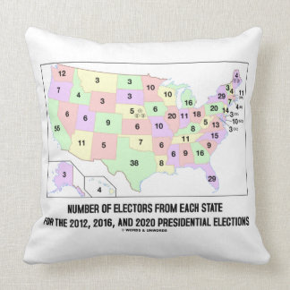 Number Of Electors From Each State Elections Map Throw Pillow