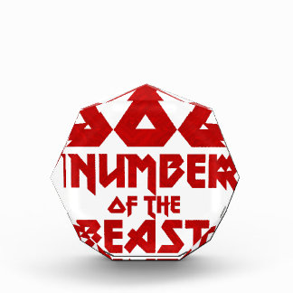 Number of the Beast Acrylic Award