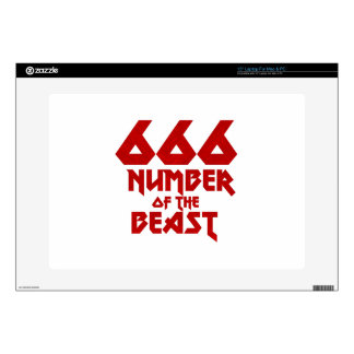 Number of the Beast Decals For Laptops