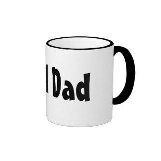 Number One #1 Dad Black Stripes Fake Tie Mug