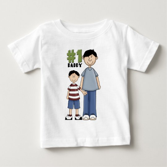 Number one, #1 Dad father and boy child Baby T-Shirt