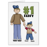 Number one, #1 Dad father and boy child Card