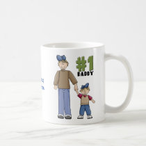Number one, #1 Dad father and boy child Coffee Mug