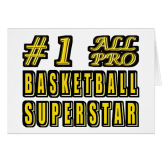Number One All Pro Basketball Superstar Card