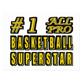 Number One All Pro Basketball Superstar Postcard