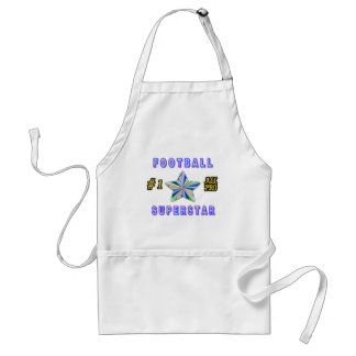 Number One All Pro Football Superstar Adult Apron