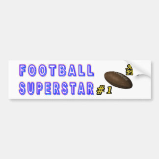 Number One All Pro Football Superstar Bumper Sticker
