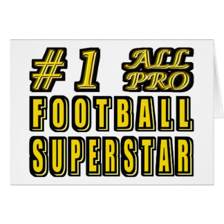 Number One All Pro Football Superstar Card