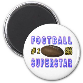 Number One All Pro Football Superstar Magnet