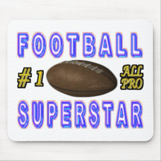 Number One All Pro Football Superstar Mouse Pad