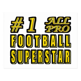 Number One All Pro Football Superstar Postcard