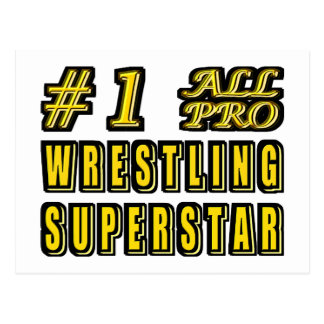 Number One All Pro Wrestling Superstar Postcard