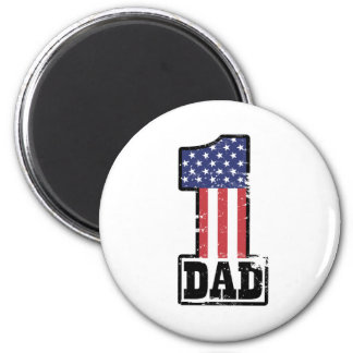 Number One American Dad 2 Inch Round Magnet