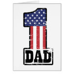 Number One American Dad Greeting Cards