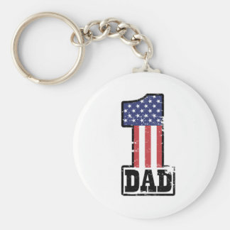 Number One American Dad Keychain