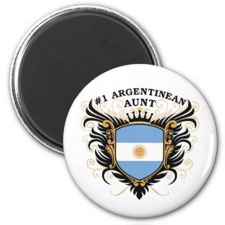 Number One Argentinean Aunt Fridge Magnets
