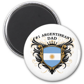 Number One Argentinean Dad Fridge Magnets