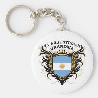 Number One Argentinean Grandma Basic Round Button Keychain