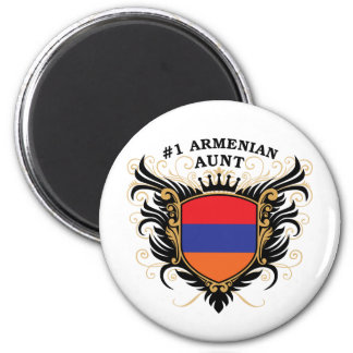 Number One Armenian Aunt 2 Inch Round Magnet