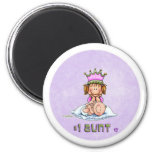 Number One Aunt 2 Inch Round Magnet