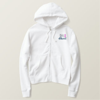 Number One Aunt Embroidered Hoodie