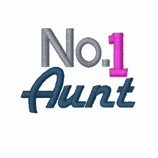 Number One Aunt Embroidered Hoody
