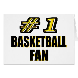 Number One Basketball Fan Cards
