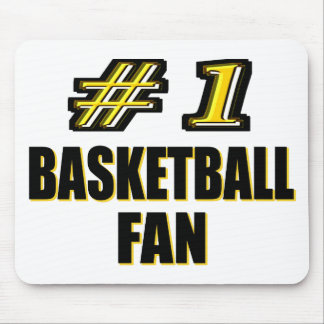 Number One Basketball Fan Mouse Pads