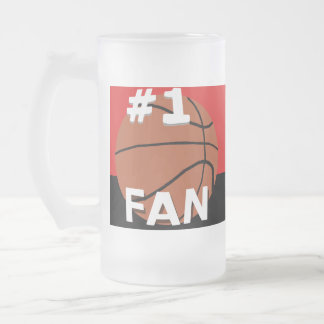 Number One Basketball Fan Mug Red and Black