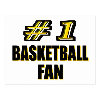 Number One Basketball Fan Postcard