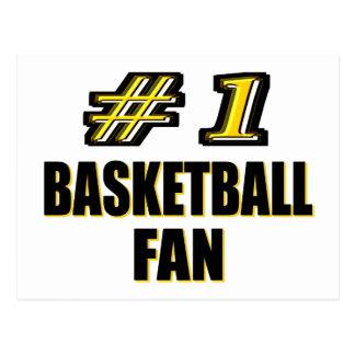 Number One Basketball Fan Postcard