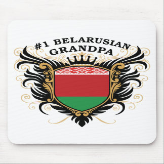 Number One Belarusian Grandpa Mouse Pads