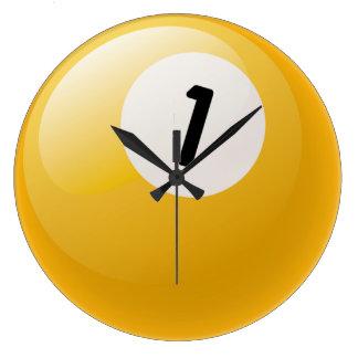 Number One Billiards Ball Clock