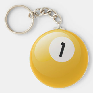 NUMBER ONE BILLIARDS BALL KEYCHAIN
