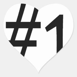number one black heart sticker