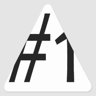 number one black triangle sticker