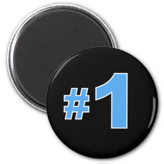 Number One Blue 2 Inch Round Magnet